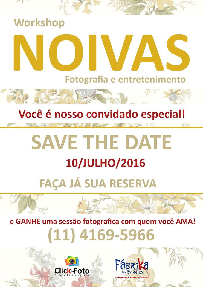 Workshop de Noivas, Fotografia e Entretenimento